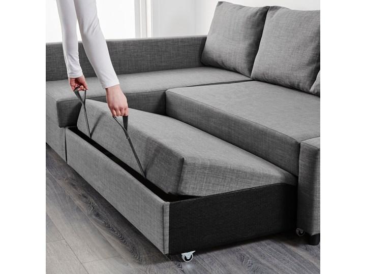 IKEA FRIHETEN Narożnik z funkcją spania, z dodatkowymi poduchami oparcia/Skiftebo ciemnoszary, Szerokość: 230 cm Lewostronne Rozkładanie Rozkładany Kategoria Narożniki