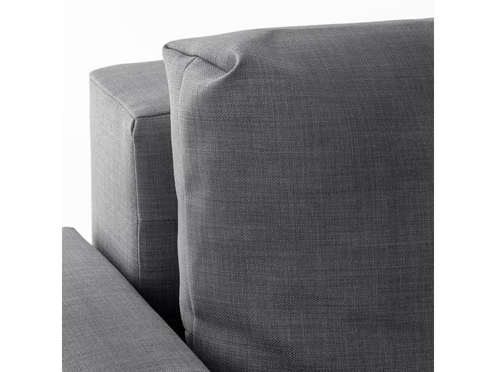 IKEA FRIHETEN Narożnik z funkcją spania, z dodatkowymi poduchami oparcia/Skiftebo ciemnoszary, Szerokość: 230 cm Lewostronne Rozkładanie Rozkładany