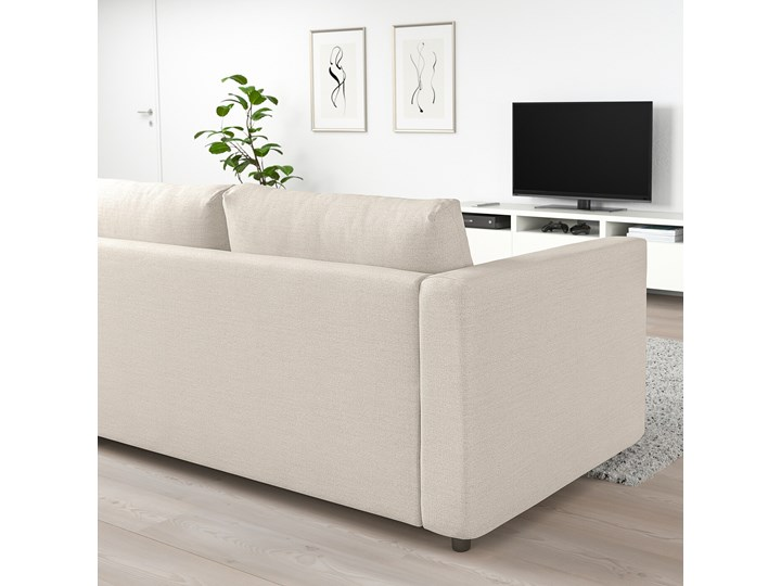 IKEA VIMLE Sofa 2-osobowa rozkładana, Gunnared beżowy, Wysokość łóżka: 53 cm Szerokość 190 cm Wielkość Dwuosobowa Głębokość 98 cm Materiał obicia Tkanina