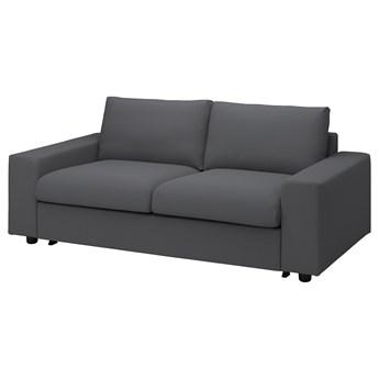 IKEA VIMLE Sofa 2-osobowa rozkładana, z szerokimi podłokietnikami/Hallarp szary, Wysokość łóżka: 53 cm