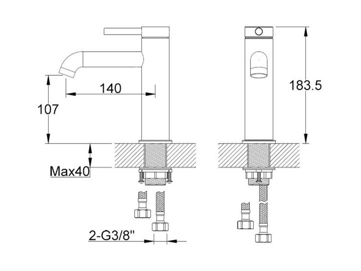 Kohlman Axel bateria umywalkowa QB105A Kategoria Baterie łazienkowe