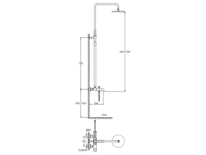 Kohlman Axel zestaw wannowy QW277A Bateria wannowa Kategoria Baterie łazienkowe