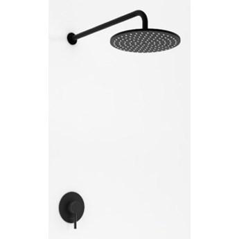 Kohlman Black Axel kompletny zestaw prysznicowy czarny mat QW220ABR30