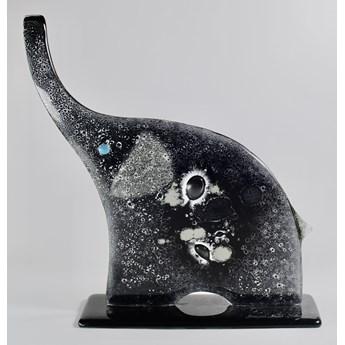 """ozdoba szklana Słoń czarno-biały z serii """"Happy Elephants"""" duży"""