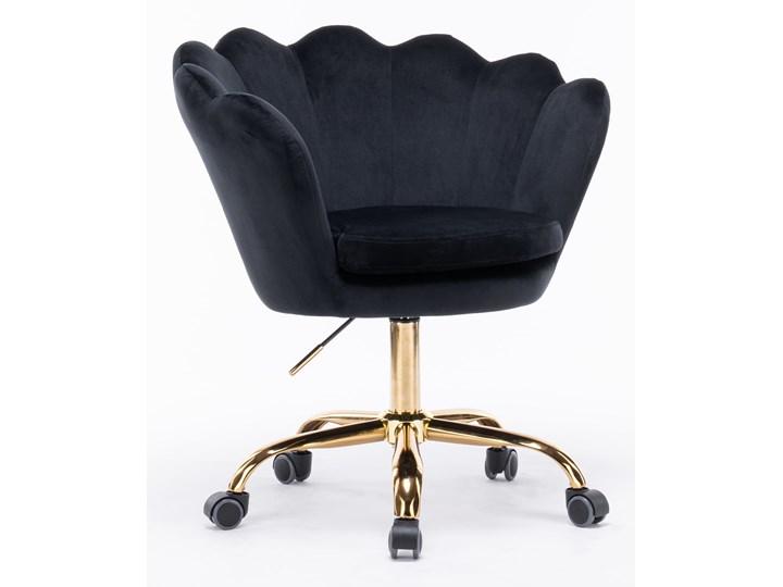 Fotel obrotowy muszelka Glamour SC-ZT8255 czarny welur Fotel muszelka Fotel pikowany Metal Tkanina Kategoria Fotele do salonu