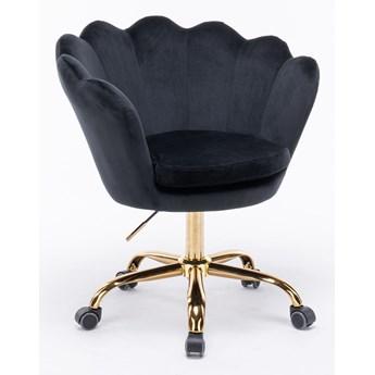 Fotel obrotowy muszelka Glamour SC-ZT8255 czarny welur