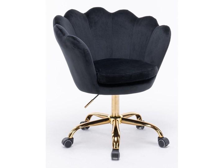 Fotel obrotowy muszelka Glamour SC-ZT8255 czarny welur Fotel pikowany Metal Fotel muszelka Tkanina Kategoria Fotele do salonu