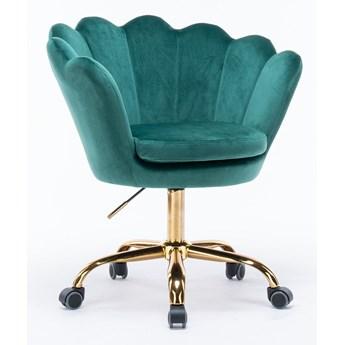 Fotel obrotowy muszelka Glamour SC-ZT8255 zielony welur
