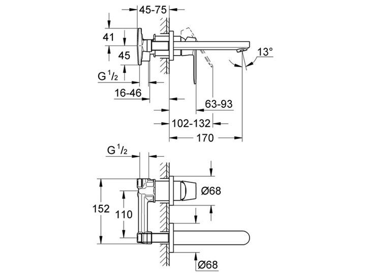 Grohe Eurosmart Cosmopolitan bateria umywalkowa podtynkowa 19381000 Bateria ścienna Wykończenie Chrom