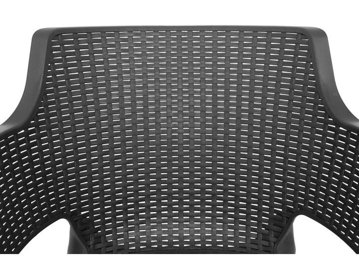 Meble ogrodowe 6-osobowe EVA+LIMA - grafitowe Stoły z krzesłami Zawartość zestawu Krzesła Kolor Szary