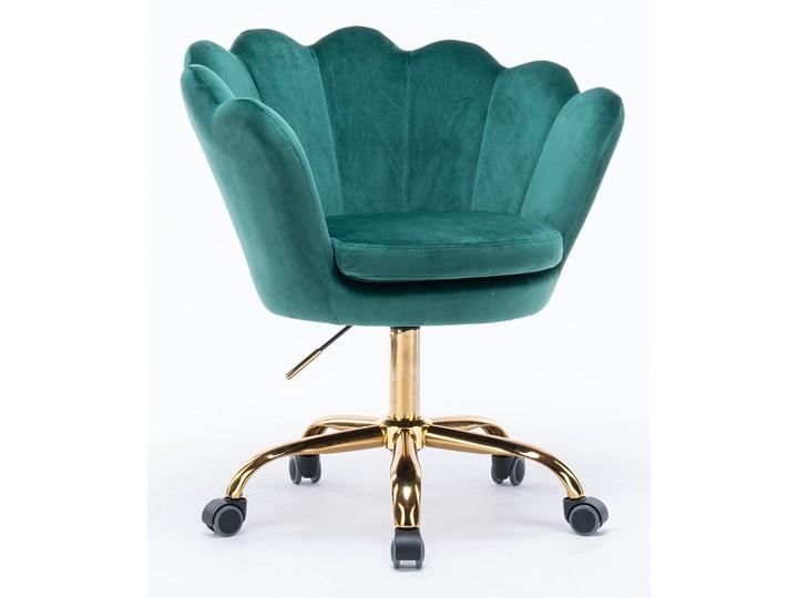 KRZESŁO OBROTOWE SC-ZT8255 ZIELONY WELUR Pikowane Tapicerowane Pomieszczenie Salon Kategoria Krzesła kuchenne