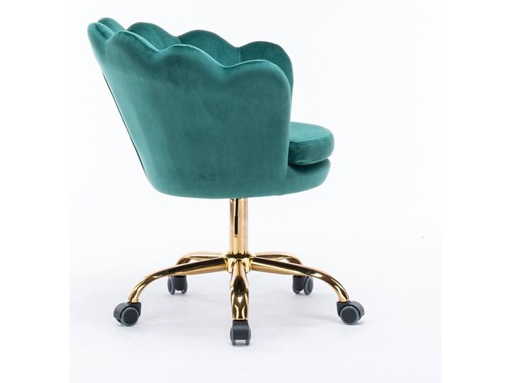 KRZESŁO OBROTOWE SC-ZT8255 ZIELONY WELUR Tapicerowane Pomieszczenie Jadalnia Pikowane Kategoria Krzesła kuchenne