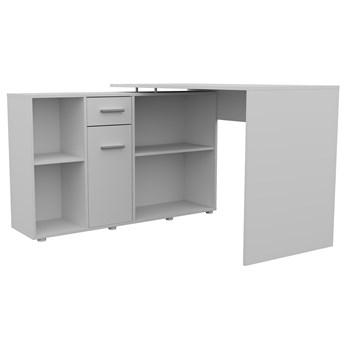 Białe modułowe biurko z komodą - Soler