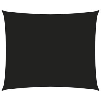 vidaXL Prostokątny żagiel ogrodowy, tkanina Oxford, 5x6 m, czarny
