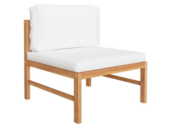 vidaXL 3-cz. zestaw wypoczynkowy do ogrodu, kremowe poduszki, tekowy Zestawy wypoczynkowe Kolor Beżowy Drewno Zawartość zestawu Stolik