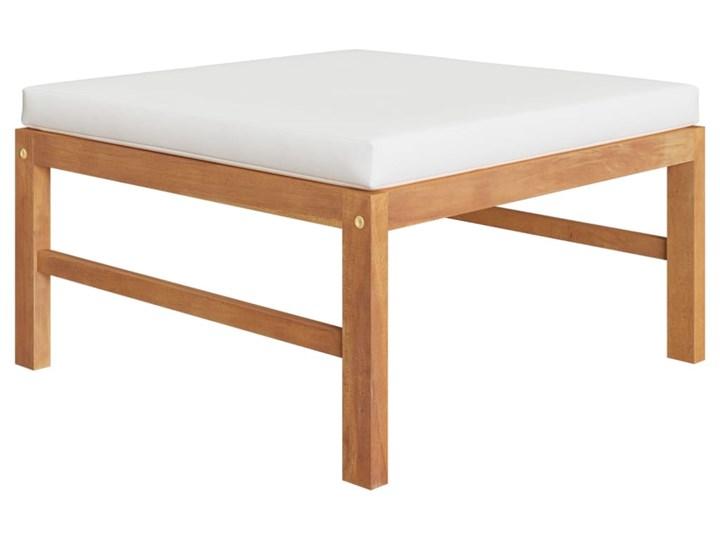 vidaXL 3-cz. zestaw wypoczynkowy do ogrodu, kremowe poduszki, tekowy Drewno Zestawy wypoczynkowe Zawartość zestawu Puf