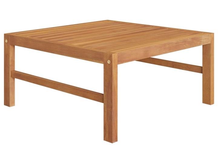 vidaXL 3-cz. zestaw wypoczynkowy do ogrodu, kremowe poduszki, tekowy Zestawy wypoczynkowe Drewno Kolor Beżowy