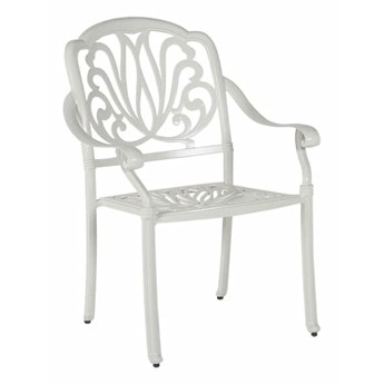 Beliani Zestaw 4 Krzeseł Ogrodowych Biały Ancona