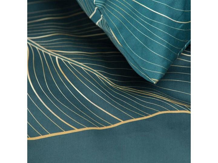 Pościel 220x200 makosatyna bawełniana turkusowa bezowa, premium bawełna hiszpańska 200x220 cm Kolor Turkusowy
