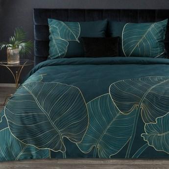 Pościel 220x200 makosatyna bawełniana turkusowa bezowa, premium bawełna hiszpańska