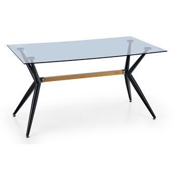 FINLEY stół, blat - dymiony, nogi - czarny