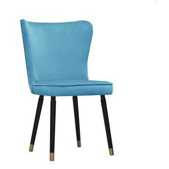 Krzesło Vincent niebieski aksamit