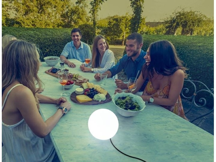 Lampa kula ogrodowa biała Buly Solar Kolor Biały Lampa solarna Lampa LED Kategoria Lampy ogrodowe