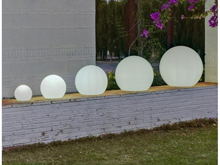 Lampa kula ogrodowa biała Buly Solar Lampa LED Lampa solarna Kolor Biały Kategoria Lampy ogrodowe