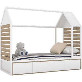 Białe skandynawskie łóżeczko domek