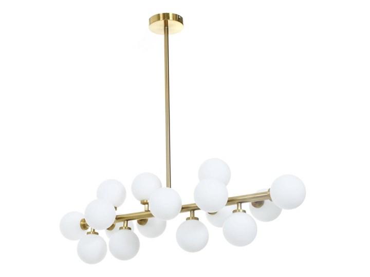 Lampa wisząca Petrica Złoto Stal Metal Ilość źródeł światła 16 źródeł Lampa z kloszem Lampa z abażurem Szkło Kategoria Lampy wiszące