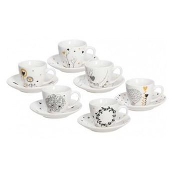 Komplet filiżanek do kawy Tognana Iris Goldy - 6 szt.