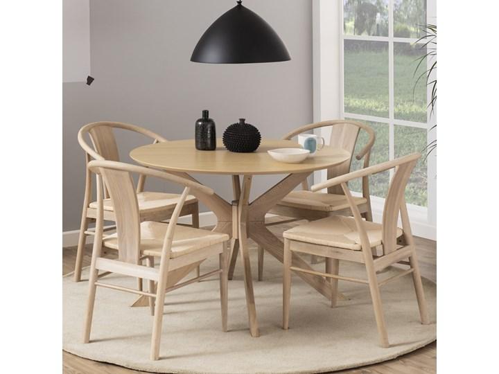 SELSEY Zestaw dwóch krzeseł drewnianych Absolutno dąb olejowany Tradycyjne Drewno Styl Nowoczesny