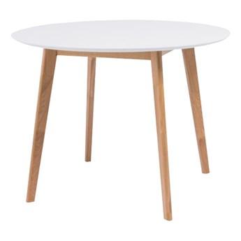 SELSEY Stół Ikast średnica 100 cm z białym blatem