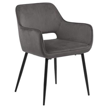 SELSEY Zestaw dwóch krzeseł Rapeily ciemnoszare