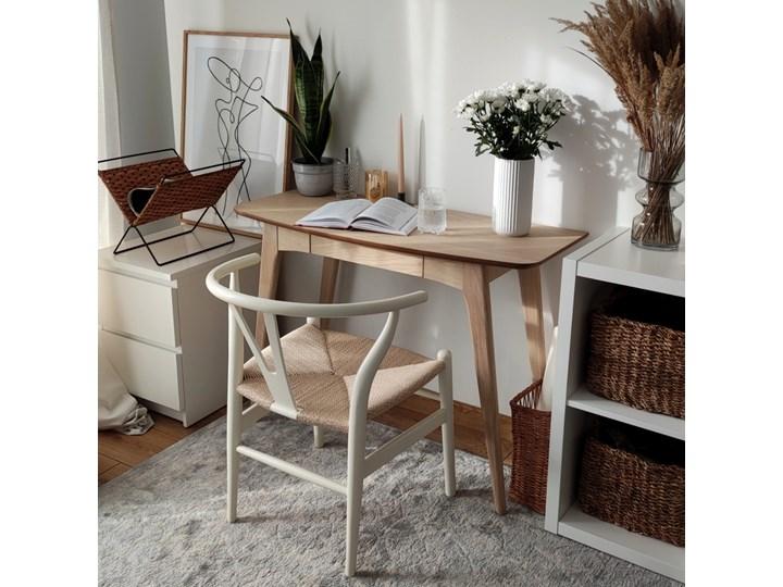 SELSEY Krzesło Wicker białe Tradycyjne Drewno Kolor Beżowy Kategoria Krzesła kuchenne