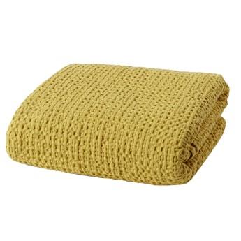SELSEY Narzuta na łóżko Alpinia bawełniana żółta
