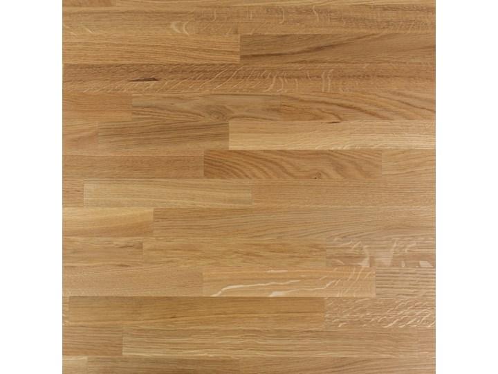 SELSEY Stół Qildor 180x90 cm z litego drewna dębowego Wysokość 75 cm Drewno Metal Szerokość 180 cm Długość 180 cm  Szerokość 80 cm Rozkładanie