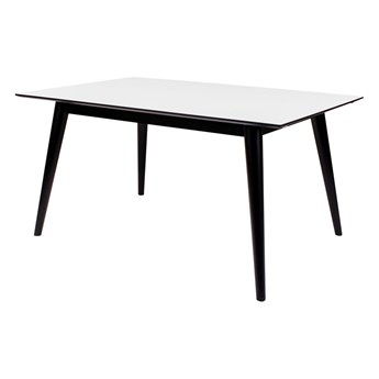 SELSEY Stół rozkładany Bimnal biało-czarny 150/230x90 cm