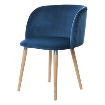 SELSEY Krzesło tapicerowane Lunnax niebieskie
