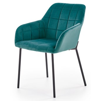 SELSEY Krzesło tapicerowane Billberry zielone