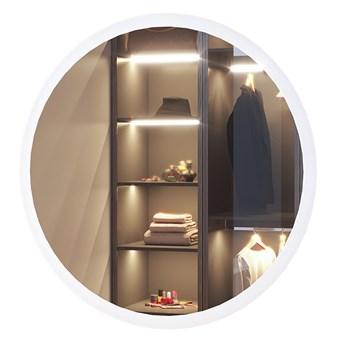 SELSEY Lustro ścienne okrągłe Gerpian o średnicy 60 cm z oświetleniem LED