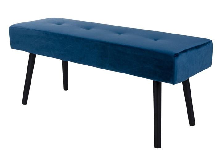 SELSEY Ławka tapicerowana Belicer 100x35 cm niebieski velvet