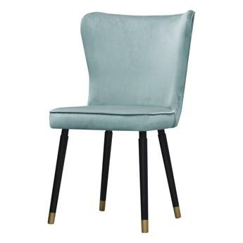 SELSEY Krzesło tapicerowane Colexio błękitne