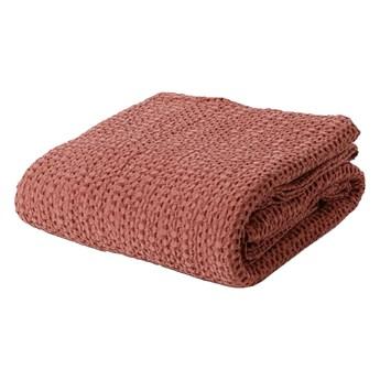 SELSEY Narzuta na łóżko Alpinia bawełniana czerwona