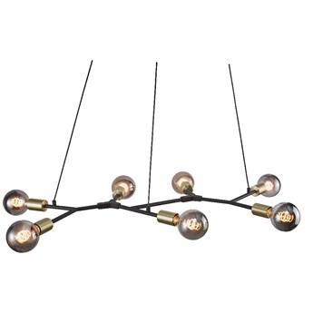 SELSEY Lampa wisząca Josefine x7 czarno-złota