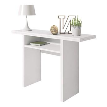 SELSEY Włoska toaletka - konsola - stół rozkładany Lurdi 120x35-70 cm biały