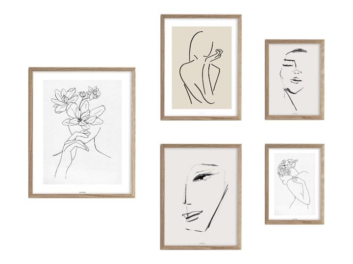 SELSEY Galeria pięciu obrazów na ścianę Droose z wyborem ramy Wymiary 86x118 cm Pomieszczenie Sypialnia