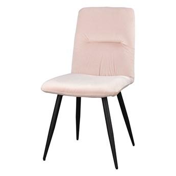 SELSEY Krzesło tapicerowane Mosterio pudrowy róż velvet