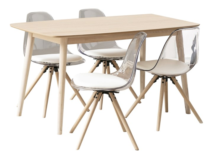 SELSEY Stół z krzesłami Bebrina Kolor Beżowy