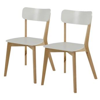 SELSEY Zestaw dwóch krzeseł Jazina białe